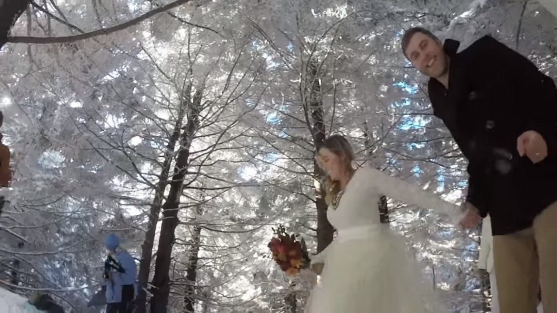 video-matrimonio-cane-gopro